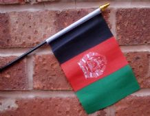 HAND WAVING FLAG (SMALL) - Afghanistan